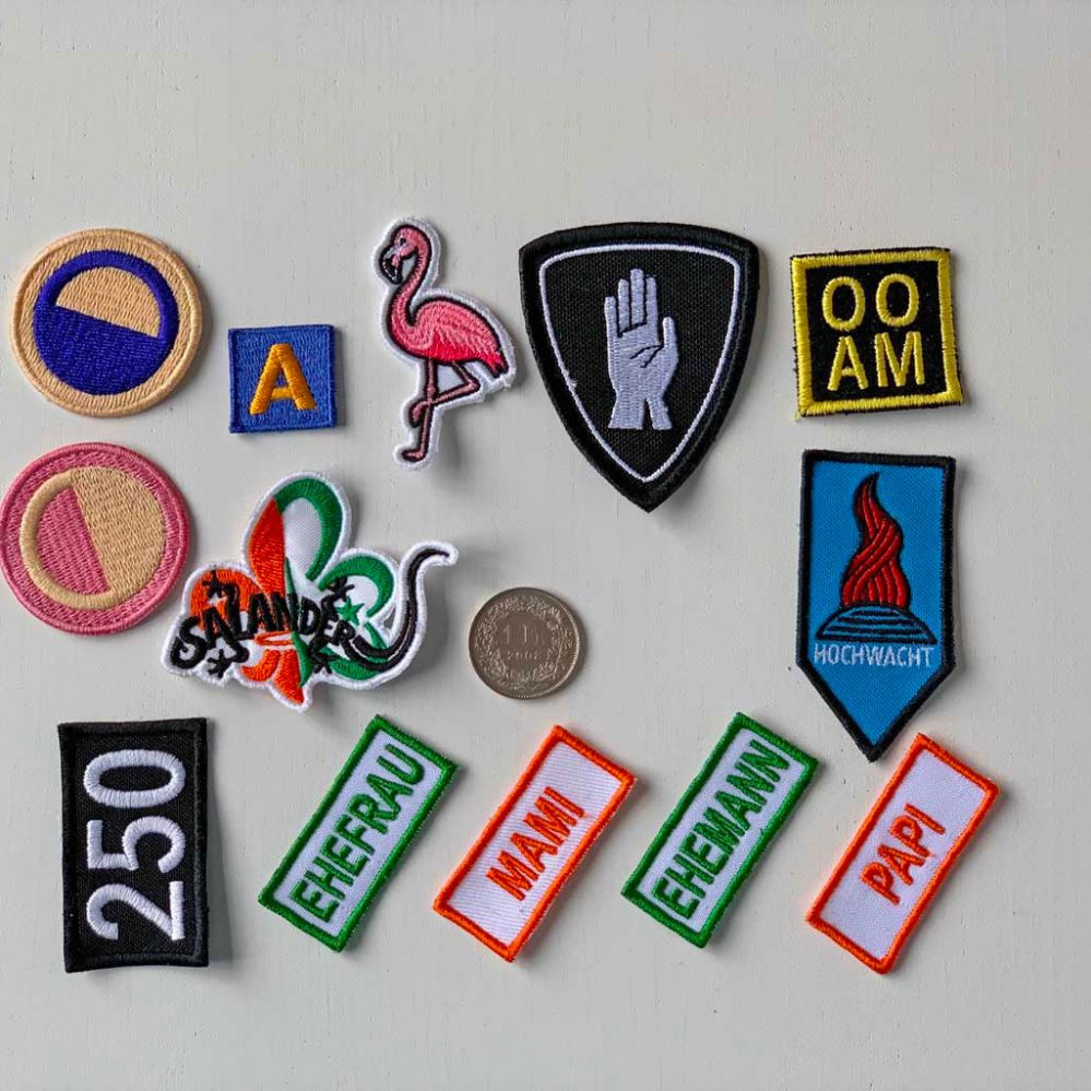 Small embroidered patches